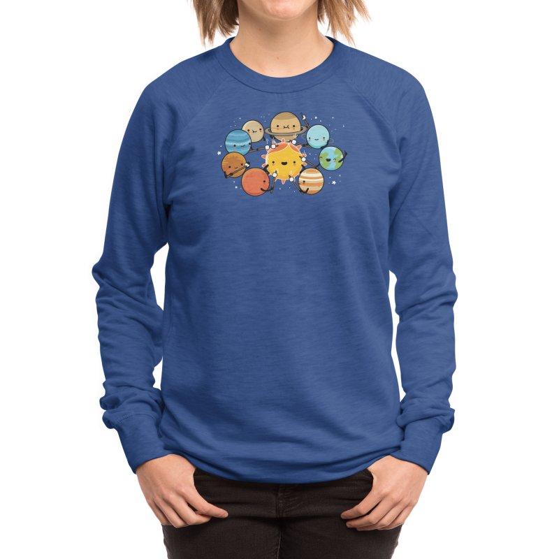 Planets camping Women's Sweatshirt by wawawiwadesign's Artist Shop