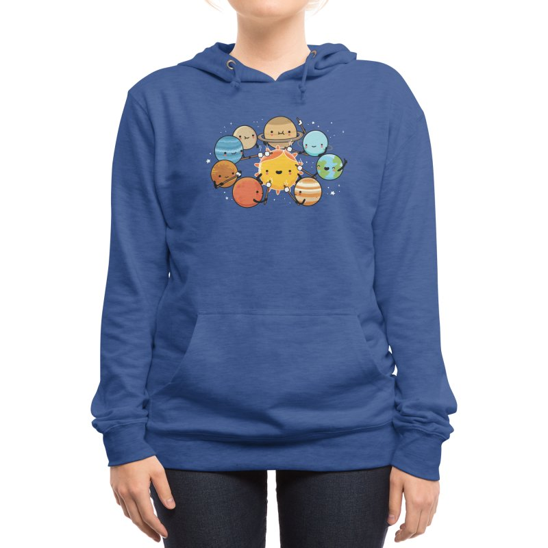 Planets camping Women's Pullover Hoody by wawawiwadesign's Artist Shop