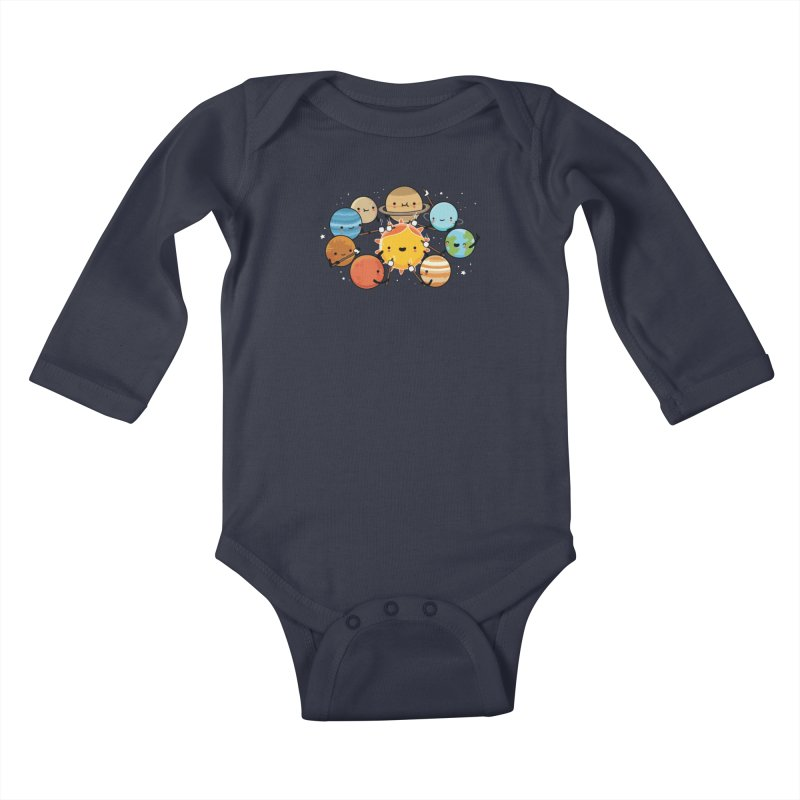 Planets camping Kids Baby Longsleeve Bodysuit by wawawiwadesign's Artist Shop