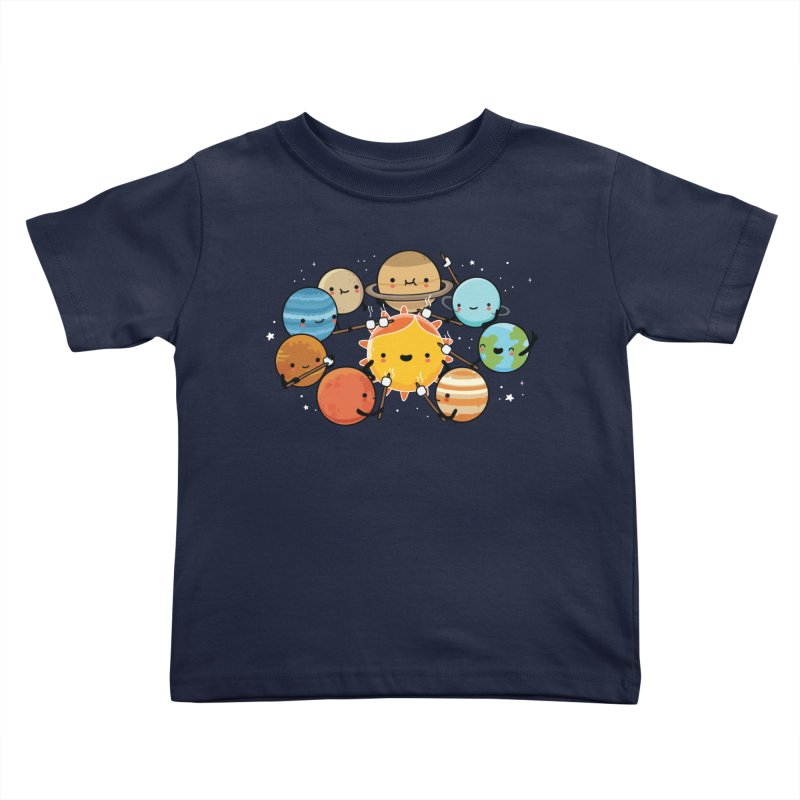 Planets camping Kids Toddler T-Shirt by wawawiwadesign's Artist Shop