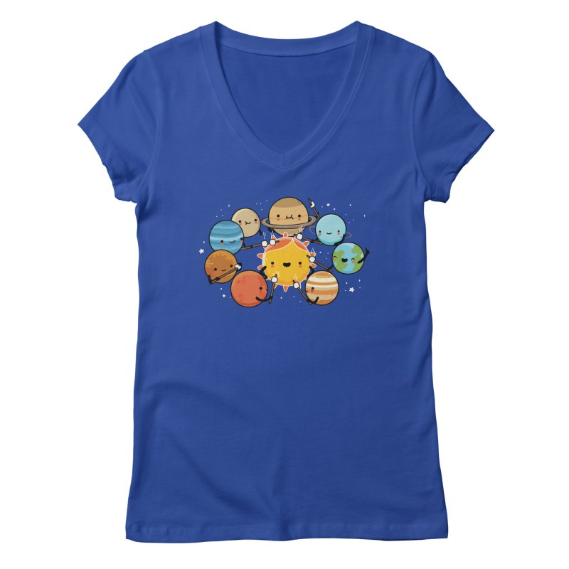 Planets camping Women's V-Neck by wawawiwadesign's Artist Shop