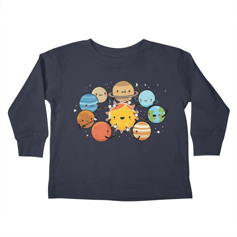 Planets camping Kids Toddler Longsleeve T-Shirt by wawawiwadesign's Artist Shop