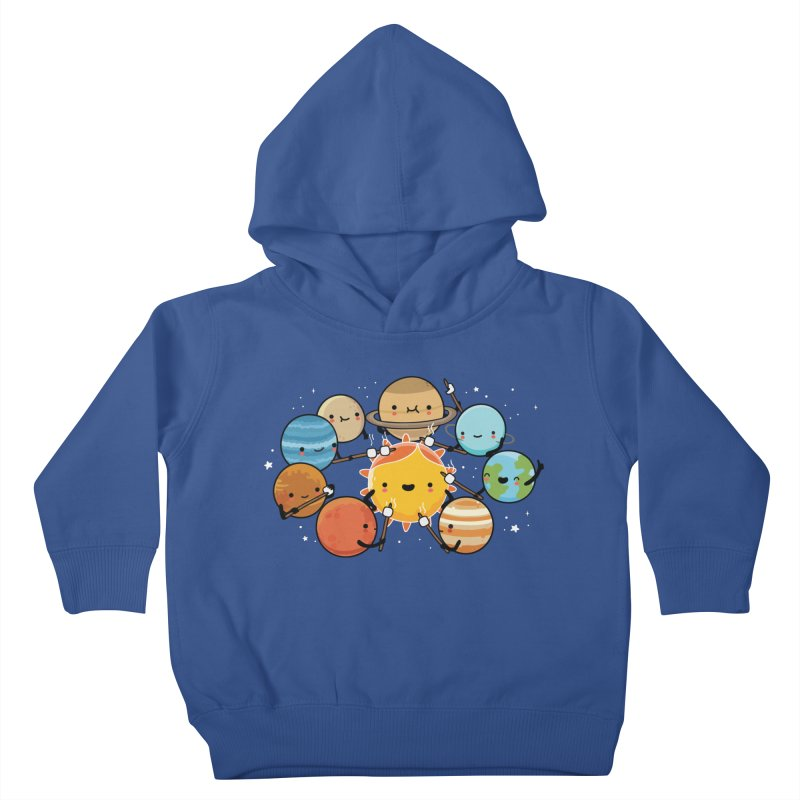 Planets camping Kids Toddler Pullover Hoody by wawawiwadesign's Artist Shop