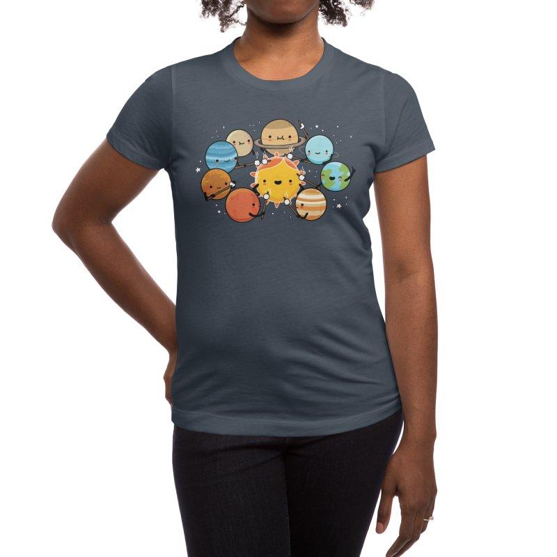 Planets camping Women's T-Shirt by wawawiwadesign's Artist Shop
