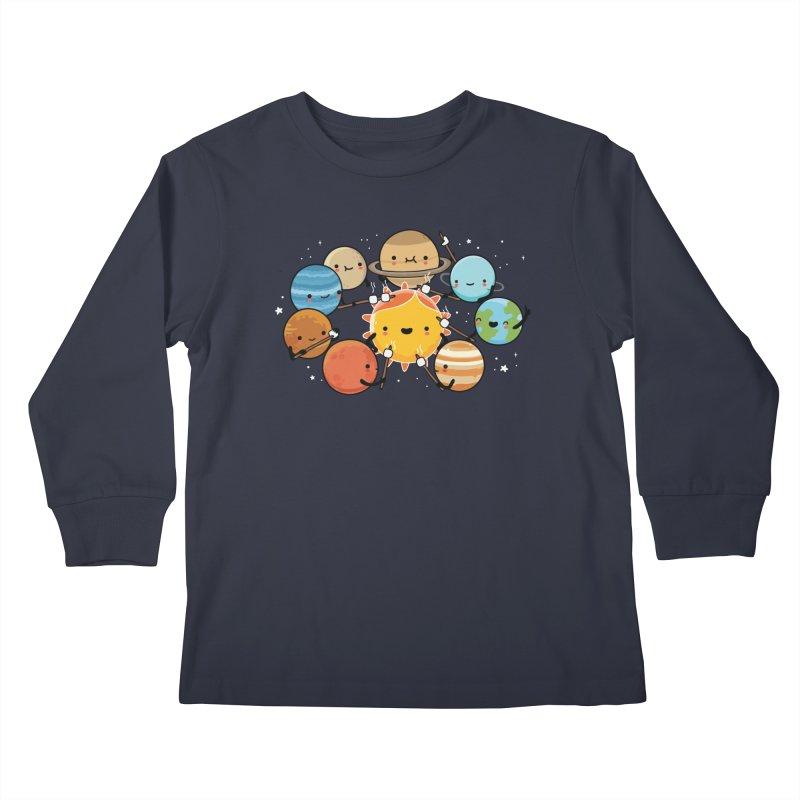 Planets camping Kids Longsleeve T-Shirt by wawawiwadesign's Artist Shop