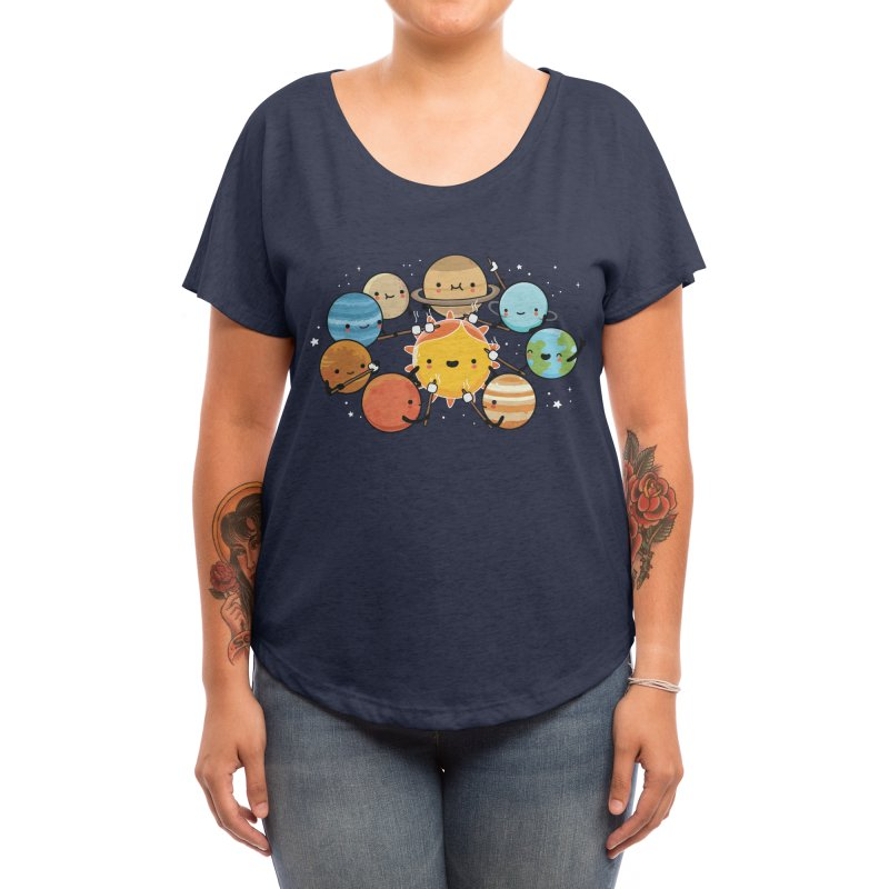 Planets camping Women's Scoop Neck by wawawiwadesign's Artist Shop