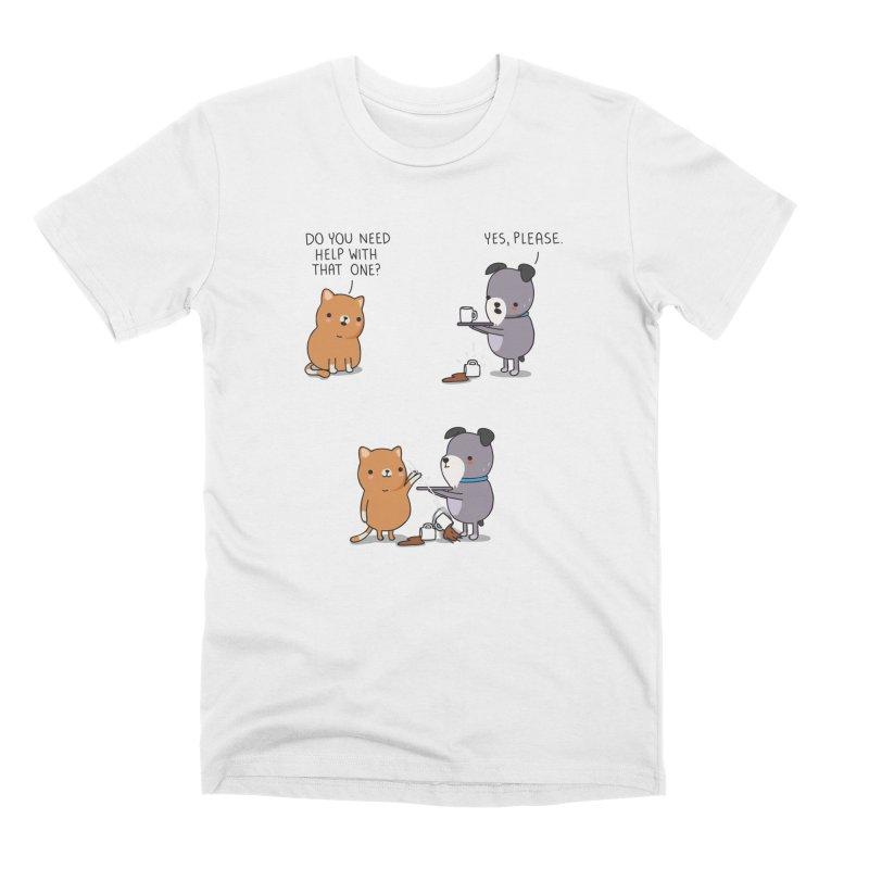 Do you need help? Men's T-Shirt by wawawiwadesign's Artist Shop