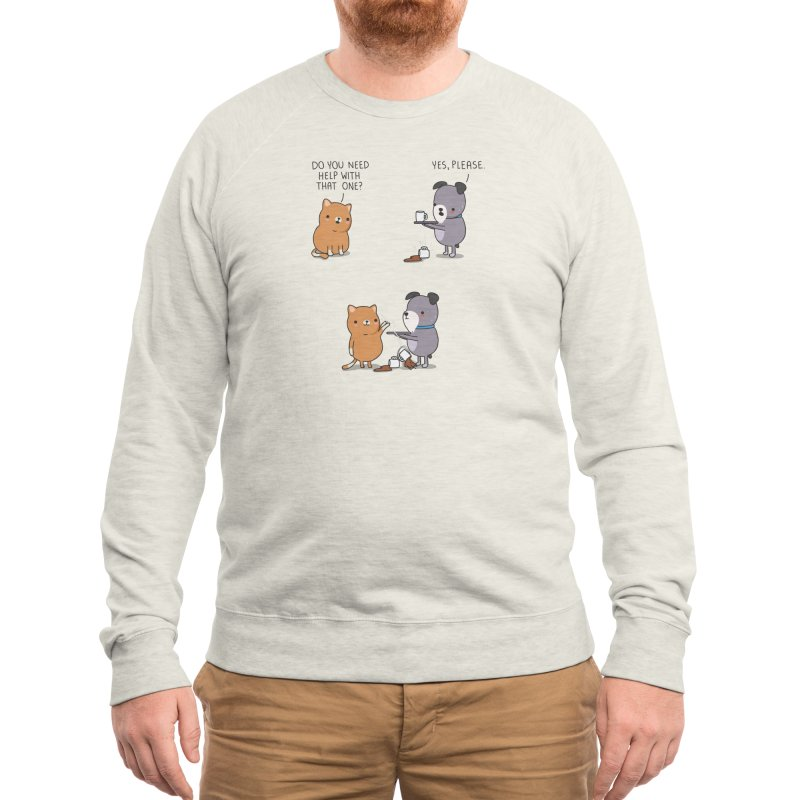 Do you need help? Men's Sweatshirt by wawawiwadesign's Artist Shop