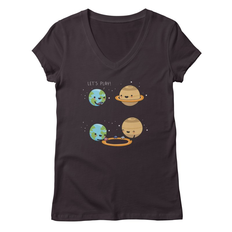 Let's play Women's V-Neck by wawawiwadesign's Artist Shop