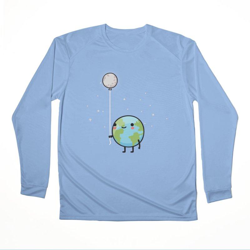 Earth & Moon Men's Longsleeve T-Shirt by wawawiwadesign's Artist Shop