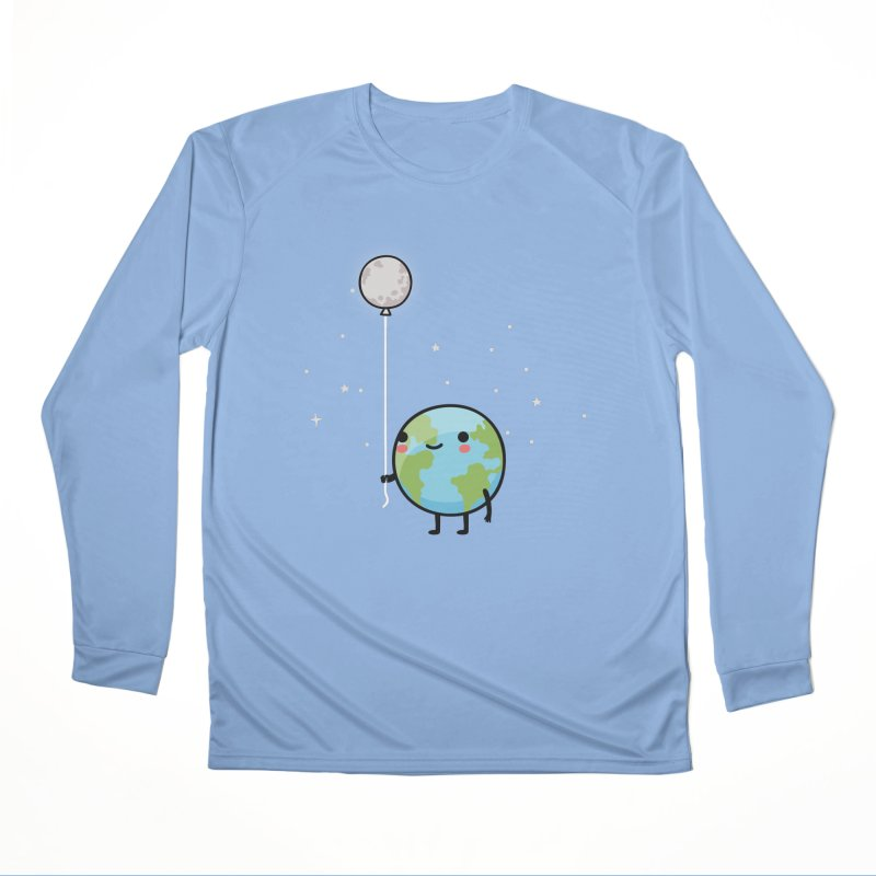 Earth & Moon Women's Longsleeve T-Shirt by wawawiwadesign's Artist Shop