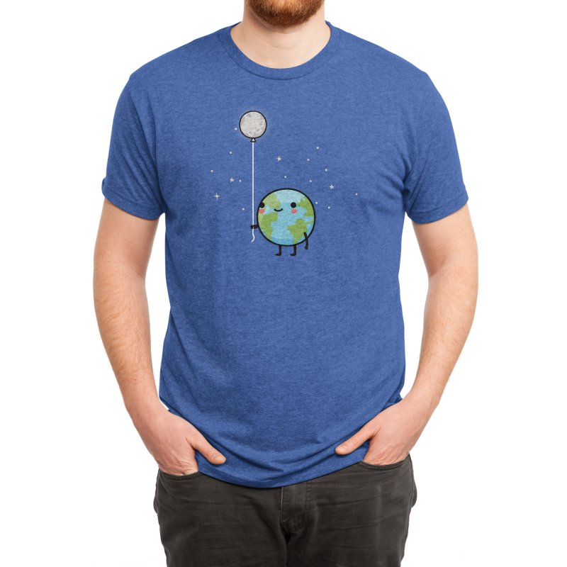 Earth & Moon Men's T-Shirt by wawawiwadesign's Artist Shop