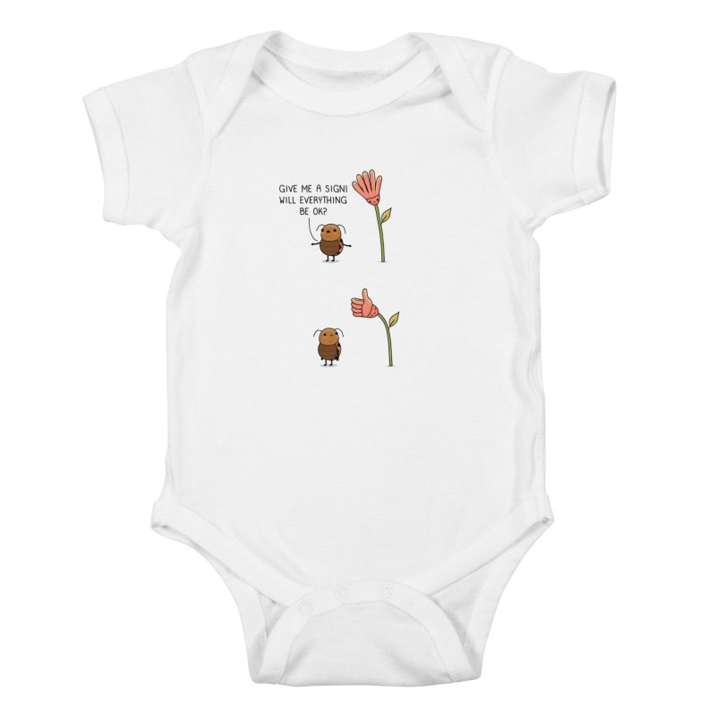 Give me a sign Kids Baby Bodysuit by wawawiwadesign's Artist Shop