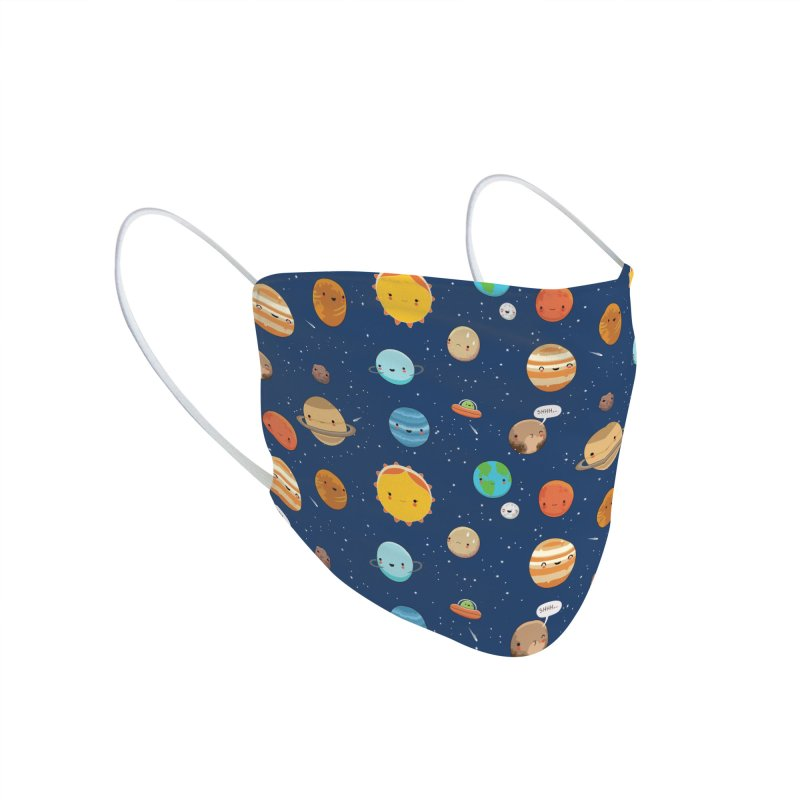 Planets - Face mask Accessories Face Mask by wawawiwadesign's Artist Shop