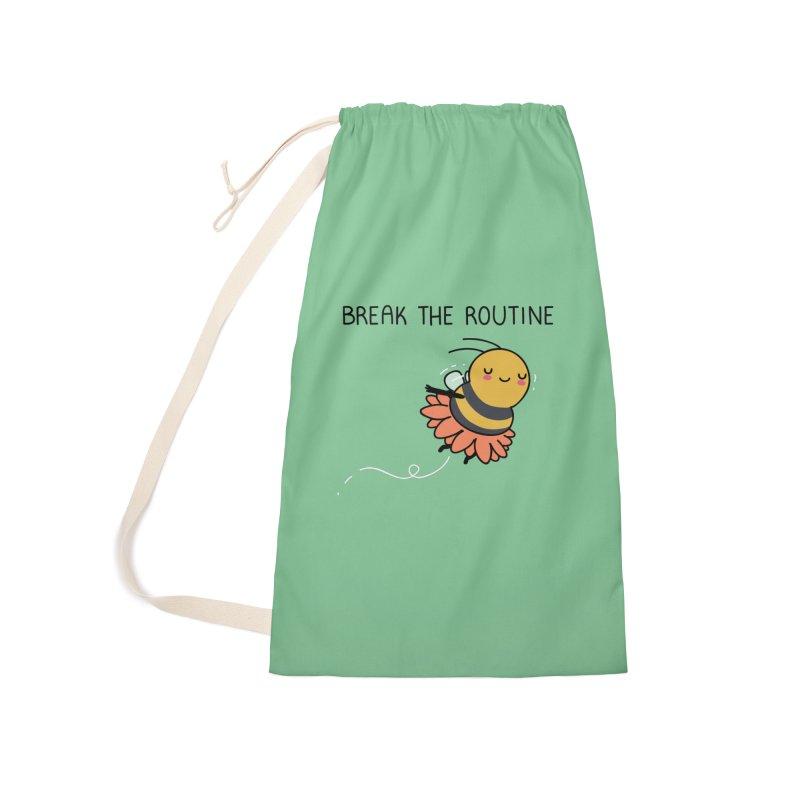 Break the routine Accessories Bag by wawawiwadesign's Artist Shop
