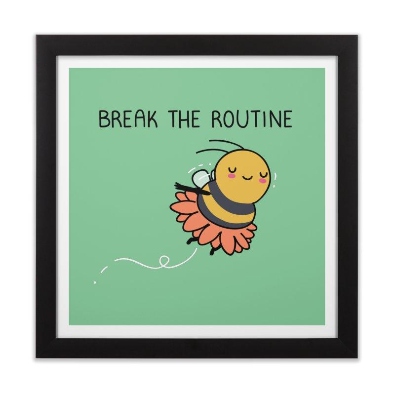 Break the routine Home Framed Fine Art Print by wawawiwadesign's Artist Shop