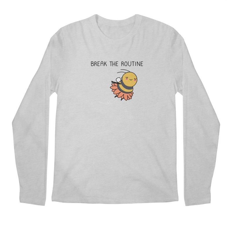 Break the routine Men's Longsleeve T-Shirt by wawawiwadesign's Artist Shop
