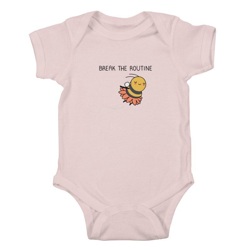 Break the routine Kids Baby Bodysuit by wawawiwadesign's Artist Shop