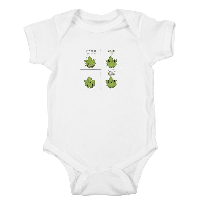 Do the helicopter Kids Baby Bodysuit by wawawiwadesign's Artist Shop