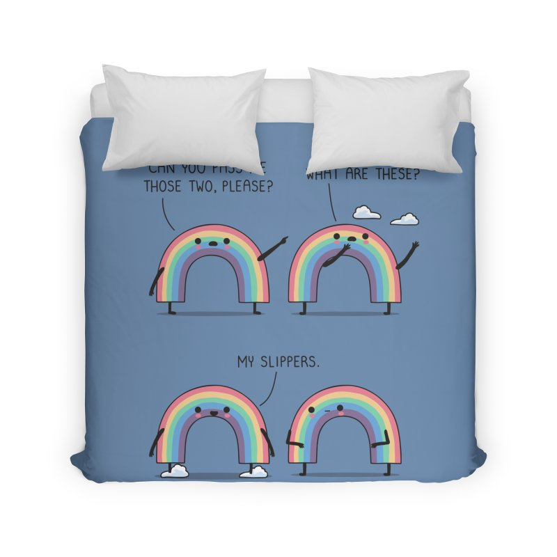 My slippers Home Duvet by wawawiwadesign's Artist Shop