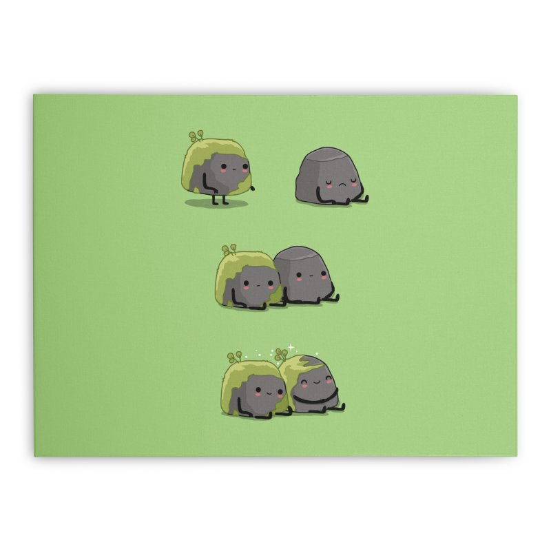 You help me the moss Home Stretched Canvas by wawawiwadesign's Artist Shop