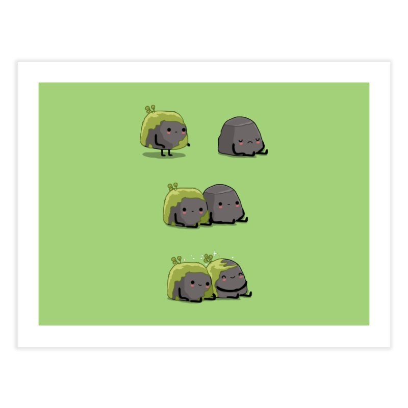 You help me the moss Home Fine Art Print by wawawiwadesign's Artist Shop