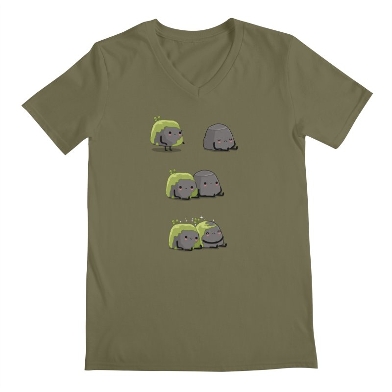 You help me the moss Men's V-Neck by wawawiwadesign's Artist Shop