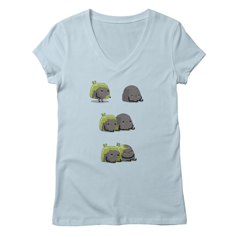 You help me the moss Women's V-Neck by wawawiwadesign's Artist Shop