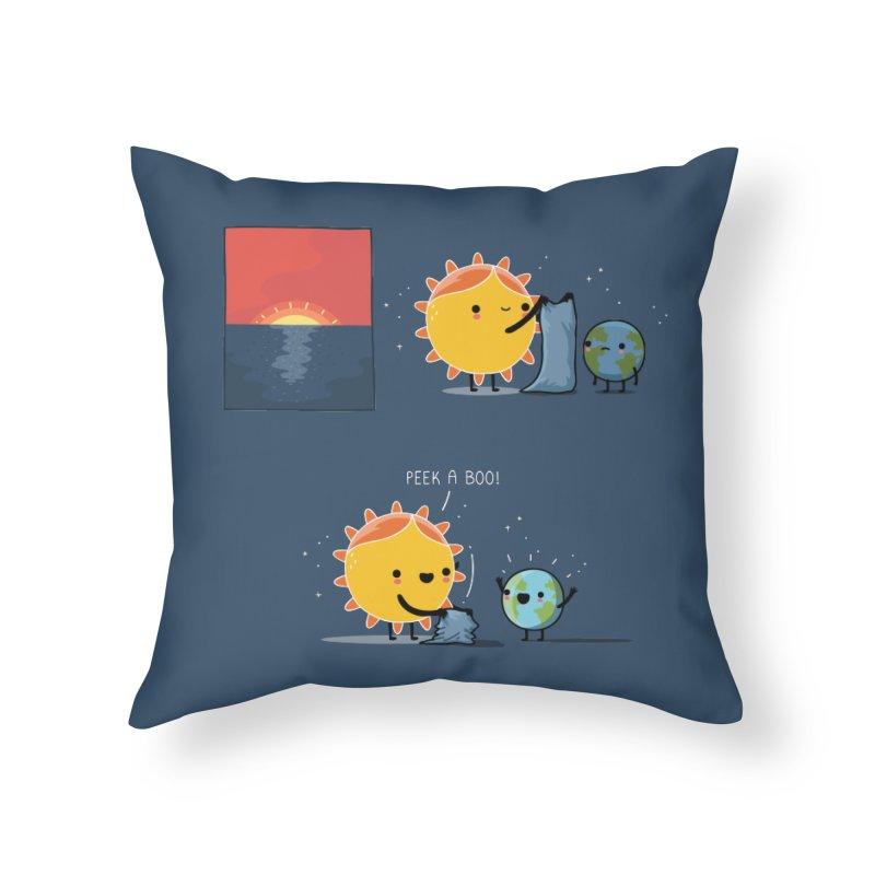 Peek-a-boo! Home Throw Pillow by wawawiwadesign's Artist Shop
