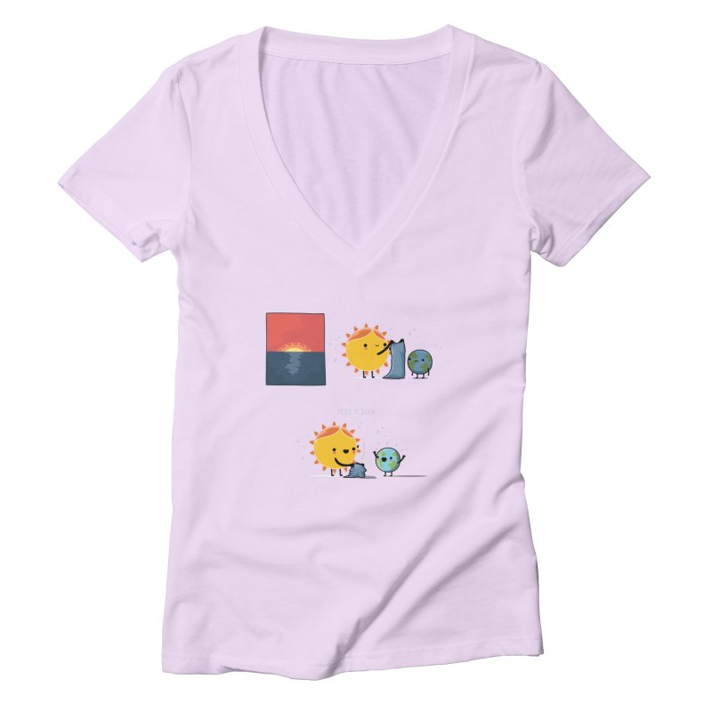 Peek-a-boo! Women's V-Neck by wawawiwadesign's Artist Shop