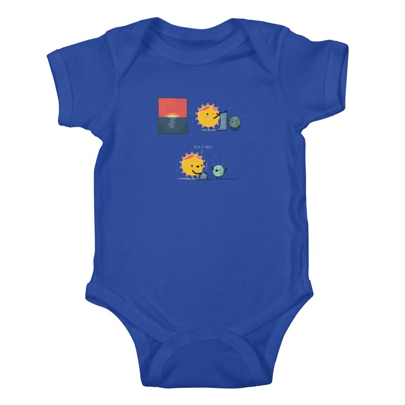 Peek-a-boo! Kids Baby Bodysuit by wawawiwadesign's Artist Shop