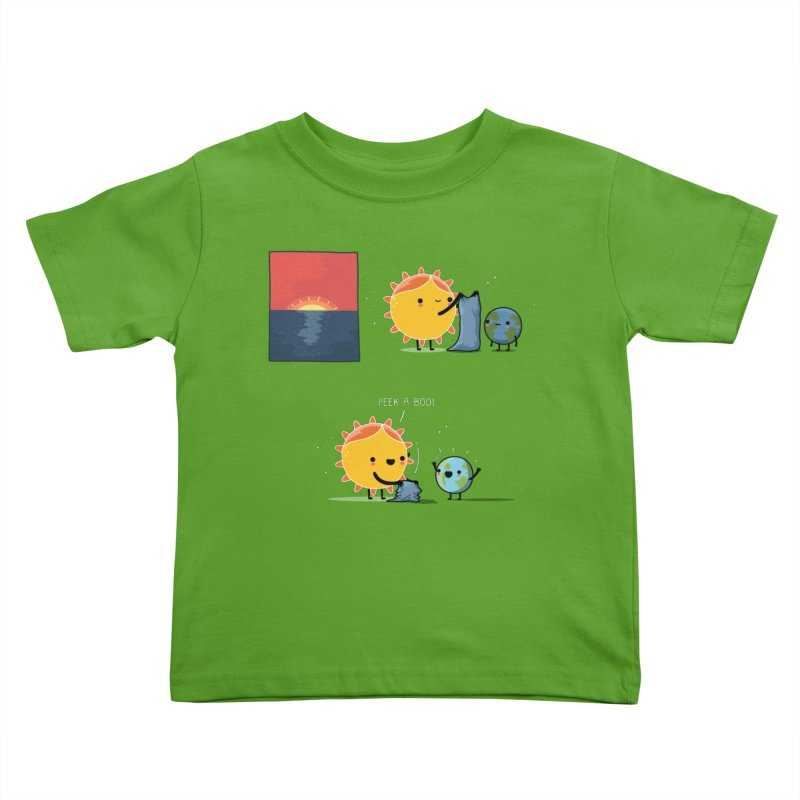 Peek-a-boo! Kids Toddler T-Shirt by wawawiwadesign's Artist Shop