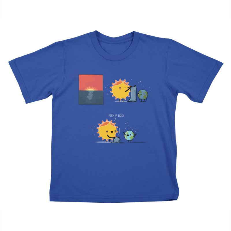 Peek-a-boo! Kids T-Shirt by wawawiwadesign's Artist Shop