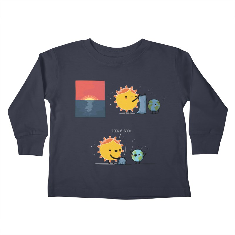 Peek-a-boo! Kids Toddler Longsleeve T-Shirt by wawawiwadesign's Artist Shop