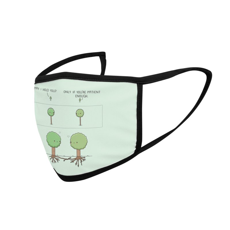 Patience Accessories Face Mask by wawawiwadesign's Artist Shop