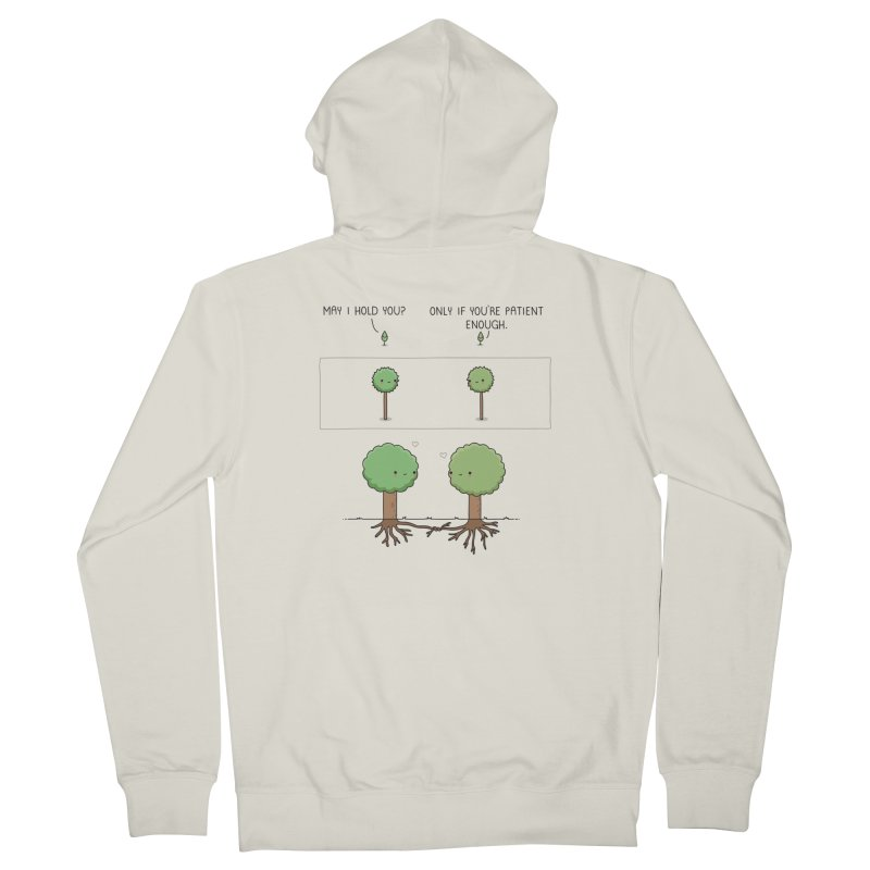 Patience Women's Zip-Up Hoody by wawawiwadesign's Artist Shop
