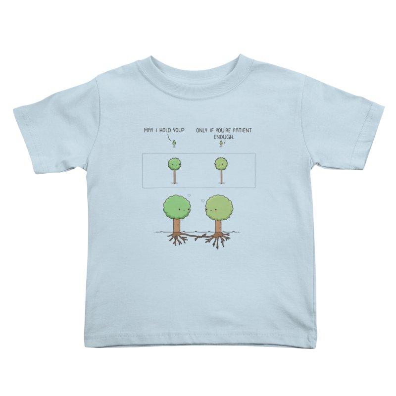 Patience Kids Toddler T-Shirt by wawawiwadesign's Artist Shop