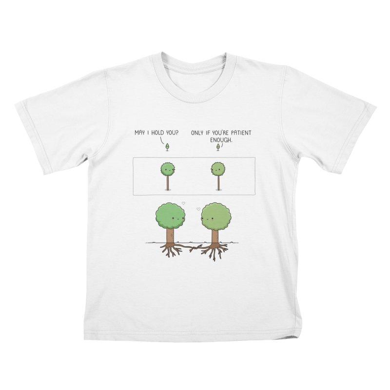 Patience Kids T-Shirt by wawawiwadesign's Artist Shop
