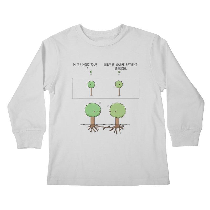 Patience Kids Longsleeve T-Shirt by wawawiwadesign's Artist Shop