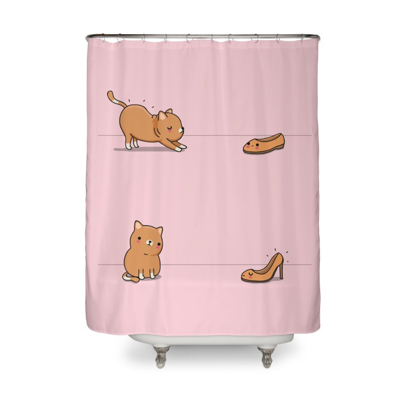 Contagious stretching Home Shower Curtain by wawawiwadesign's Artist Shop