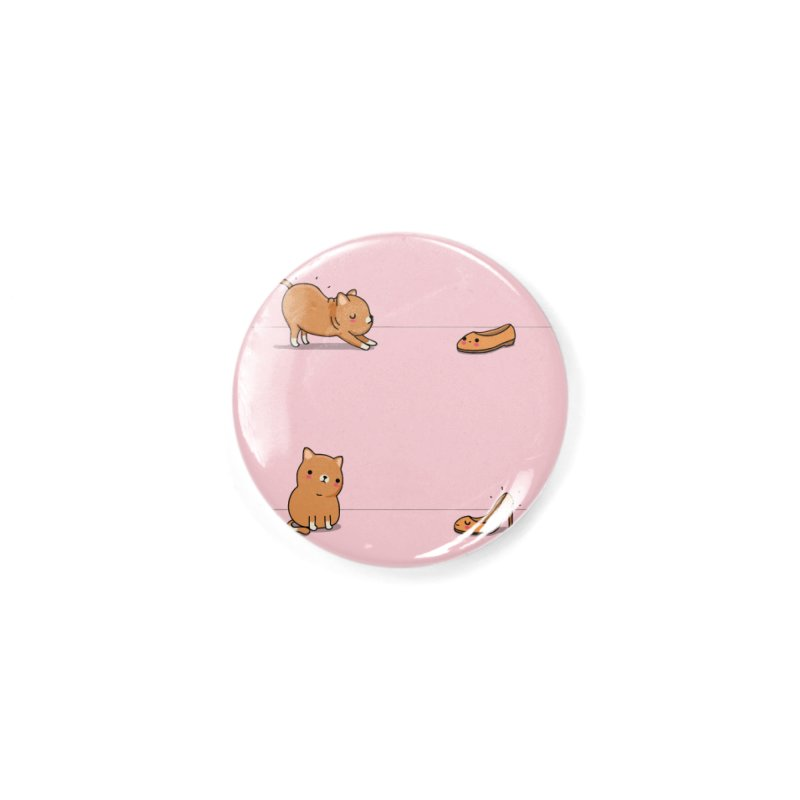 Contagious stretching Accessories Button by wawawiwadesign's Artist Shop