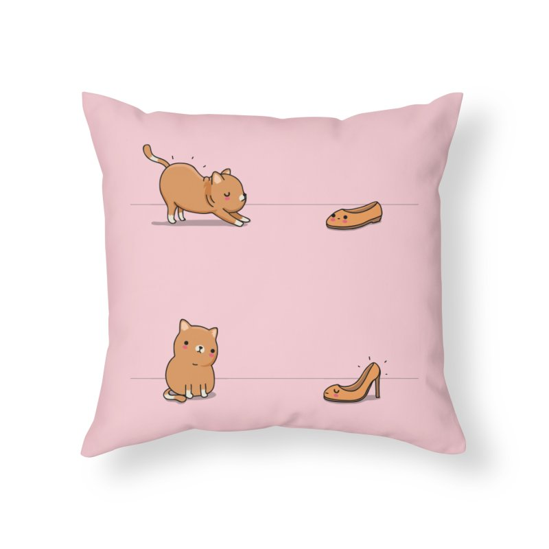Contagious stretching Home Throw Pillow by wawawiwadesign's Artist Shop