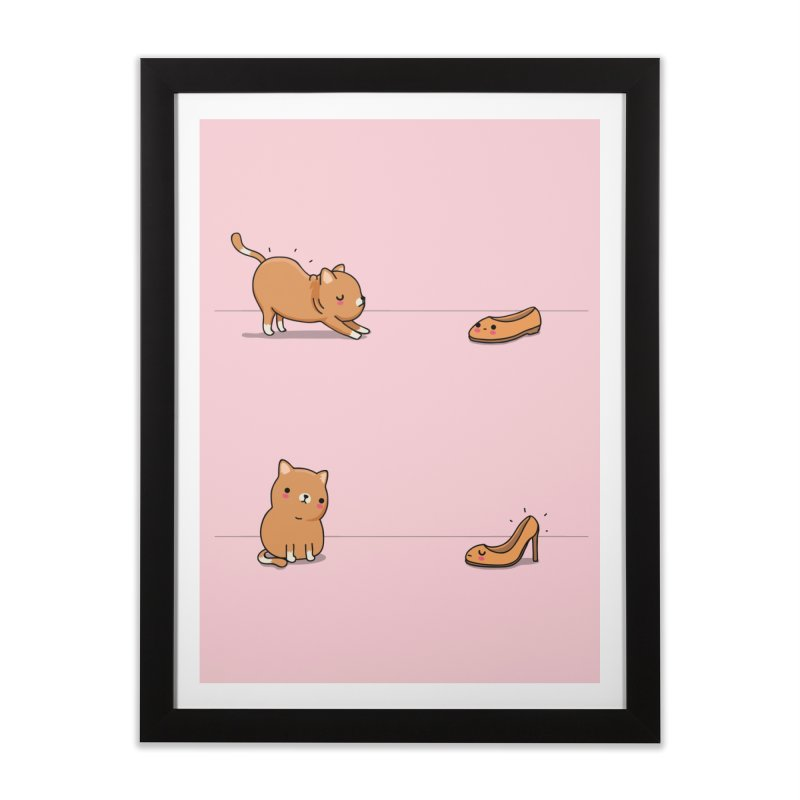 Contagious stretching Home Framed Fine Art Print by wawawiwadesign's Artist Shop