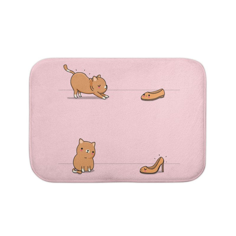 Contagious stretching Home Bath Mat by wawawiwadesign's Artist Shop