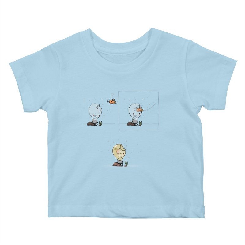 Feel the light again Kids Baby T-Shirt by wawawiwadesign's Artist Shop