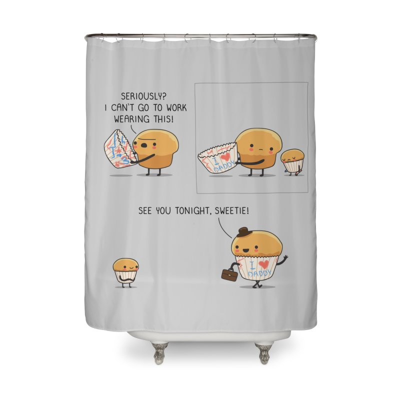 I love daddy Home Shower Curtain by wawawiwadesign's Artist Shop