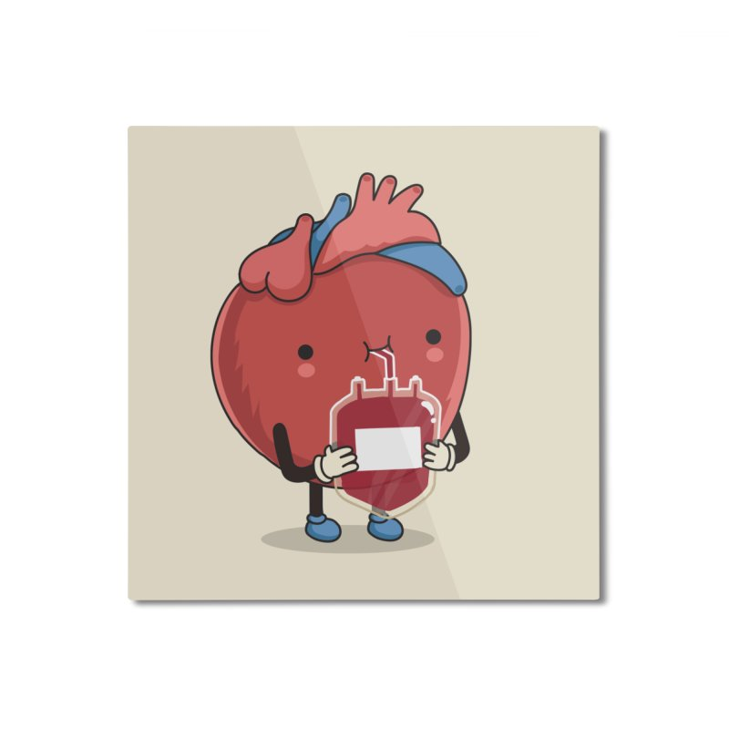 Drink hearty Home Mounted Aluminum Print by wawawiwadesign's Artist Shop