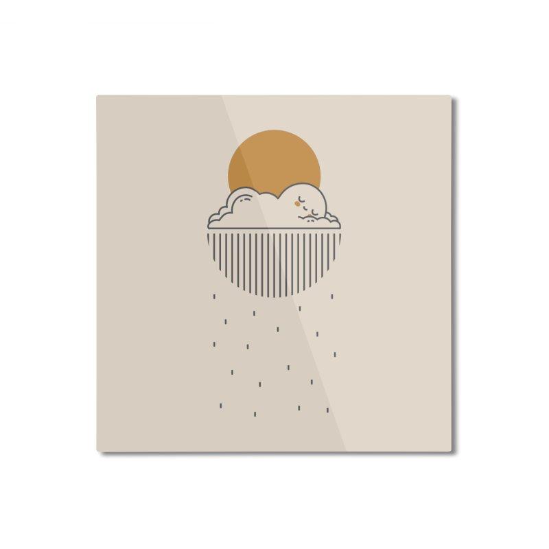 Sleepy cloud Home Mounted Aluminum Print by wawawiwadesign's Artist Shop