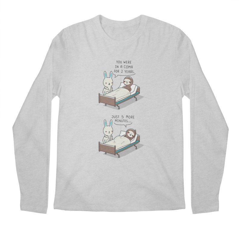 5 more minutes Men's Longsleeve T-Shirt by wawawiwadesign's Artist Shop