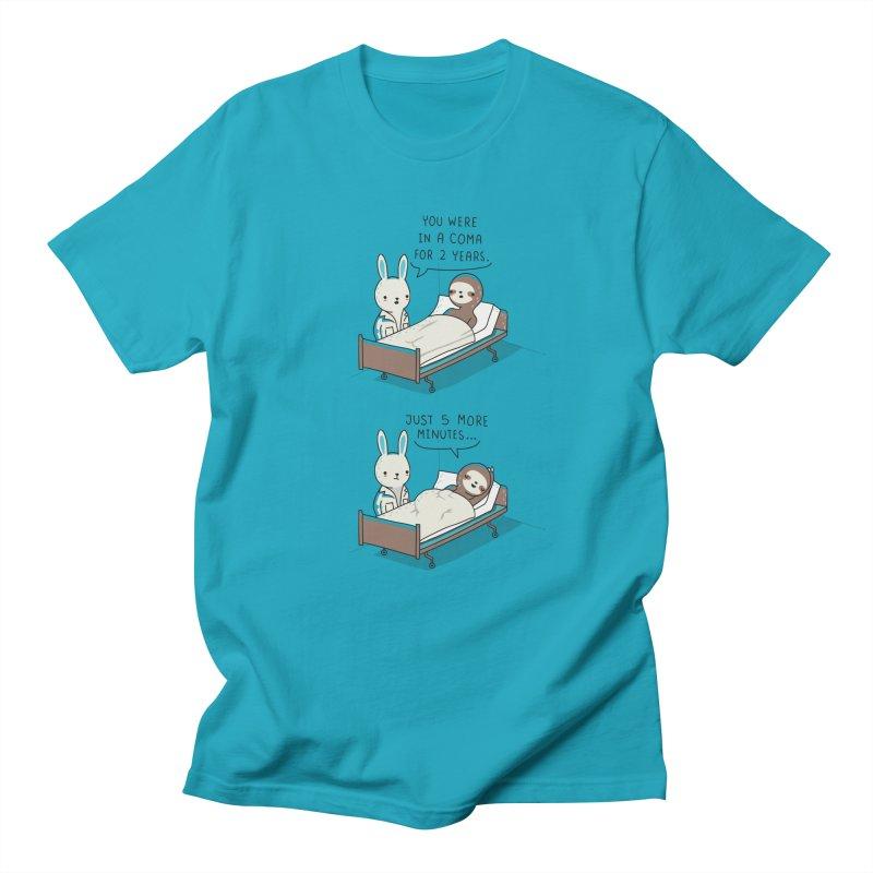 5 more minutes Men's T-shirt by wawawiwadesign's Artist Shop